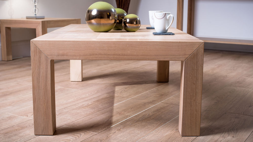Contemporary Style Washed Oak Coffee Table