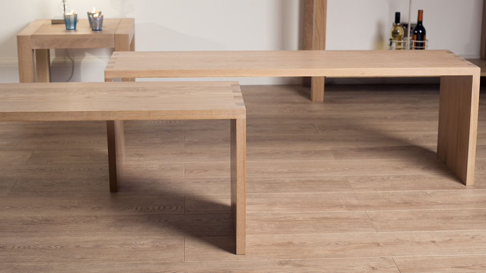 Modern Solid Oak Dining Benches