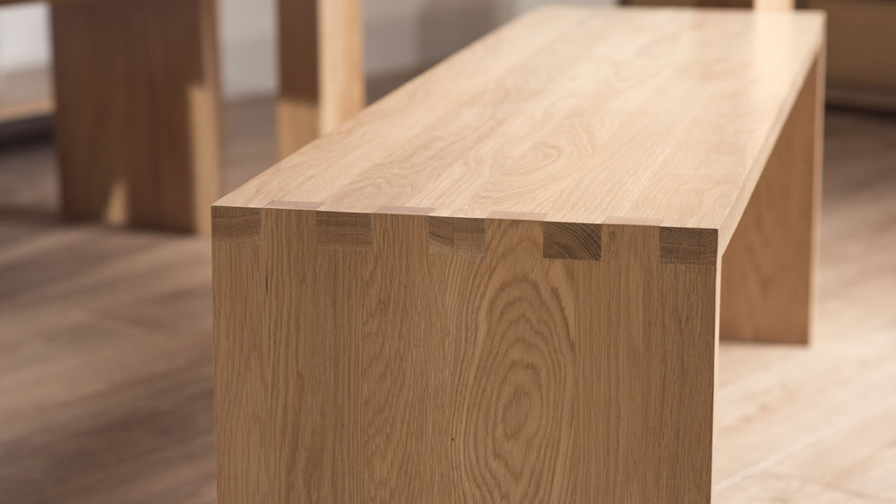 Modern Washed Oak Dining Benches