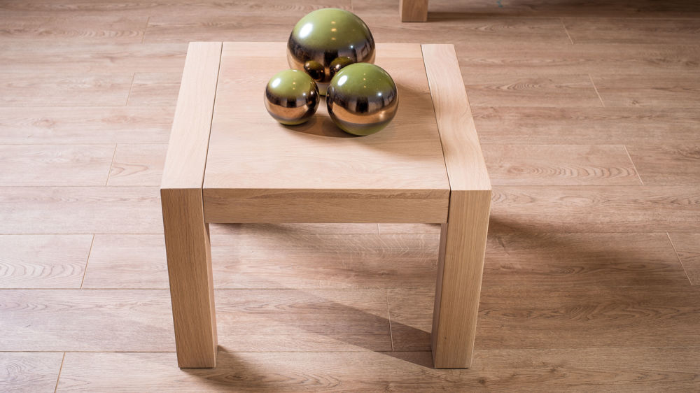 Modern solid oak lamp table square end or side table uk small light wooden lamp table mozeypictures Choice Image