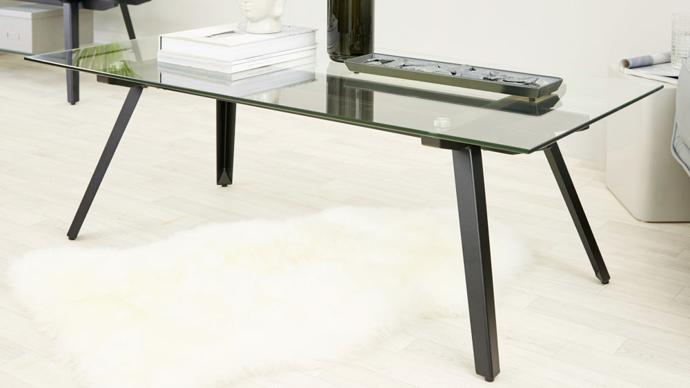Modern Glass Monochrome Coffee Table