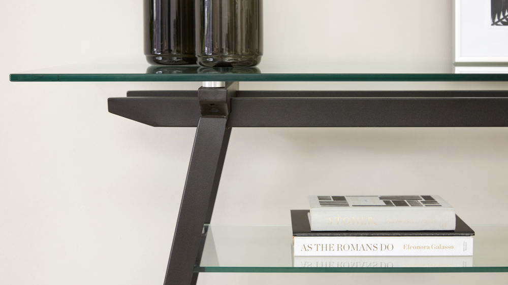 Black and Glass Console table
