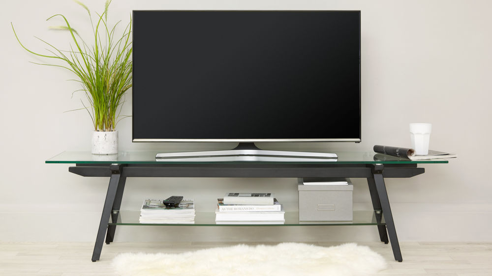 Black and Glass Modern TV unit