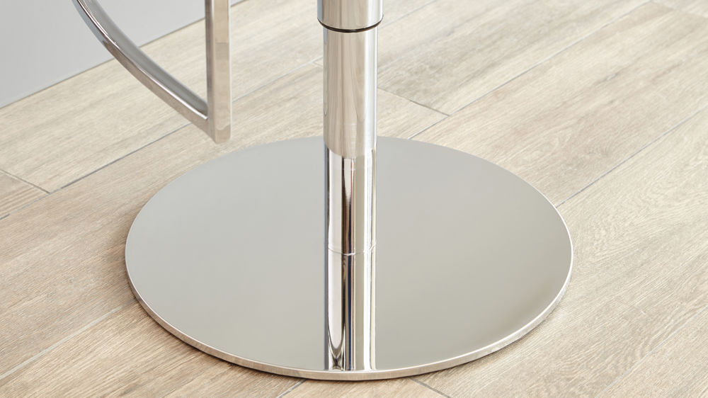 Modern Chrome Pedestal Base Bar Stool