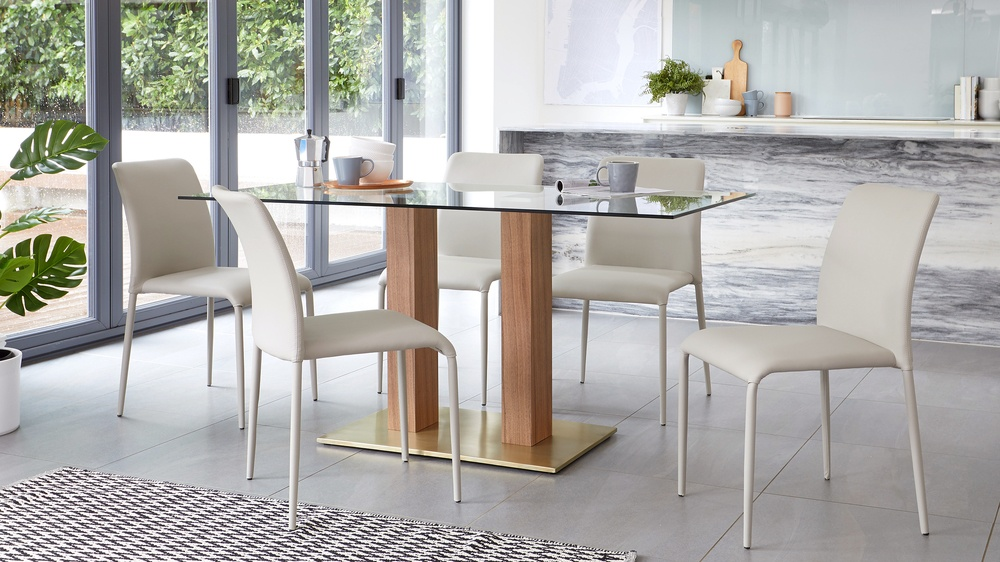 stackable faux leather dining chairs