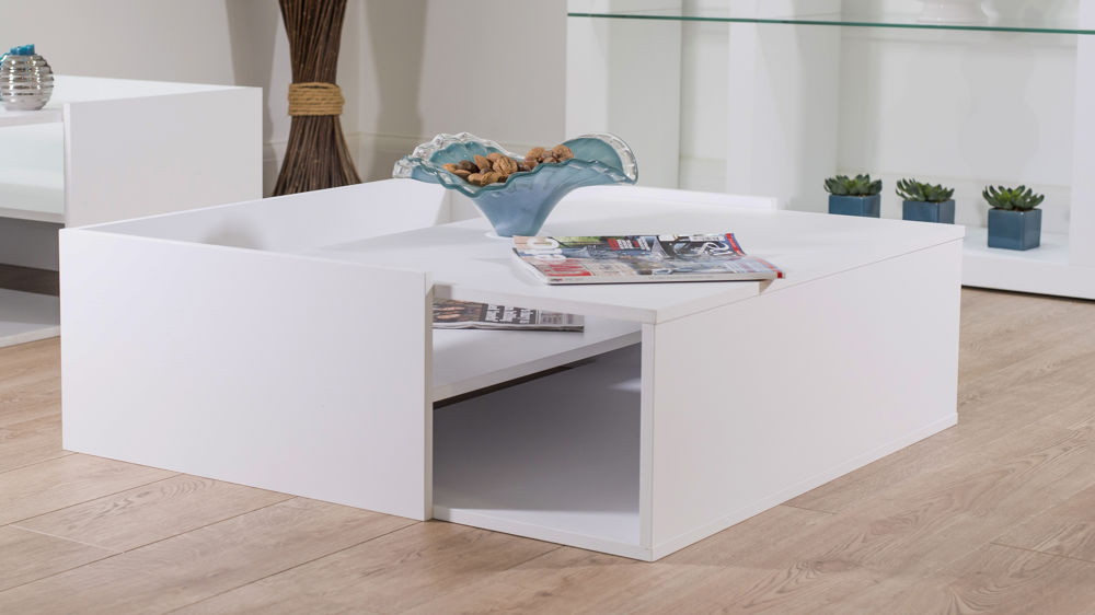 Modern White Wooden Coffee Table