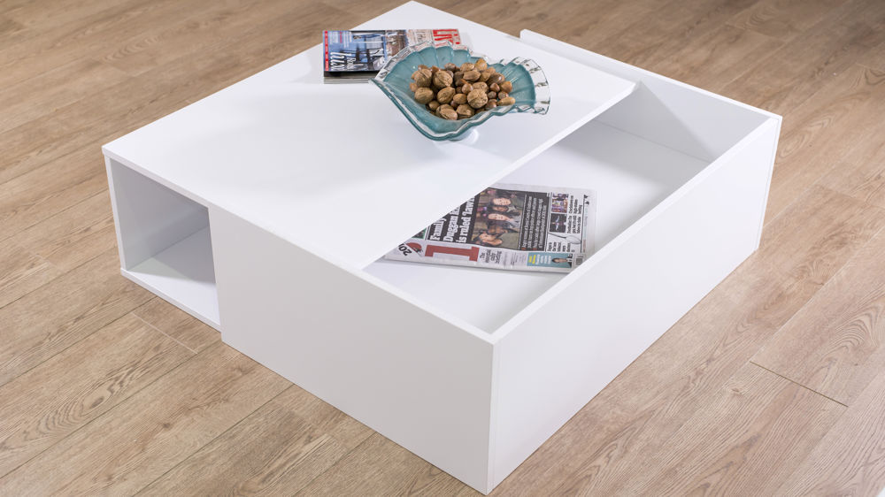 Contemporary White Coffee Table