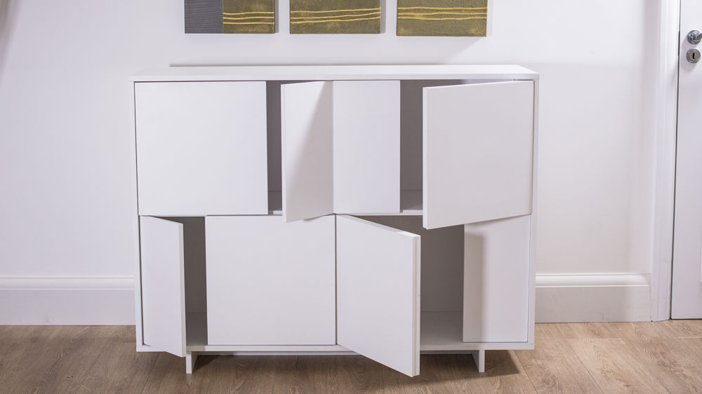 White Oak Sideboard Modern Storage Unit Uk