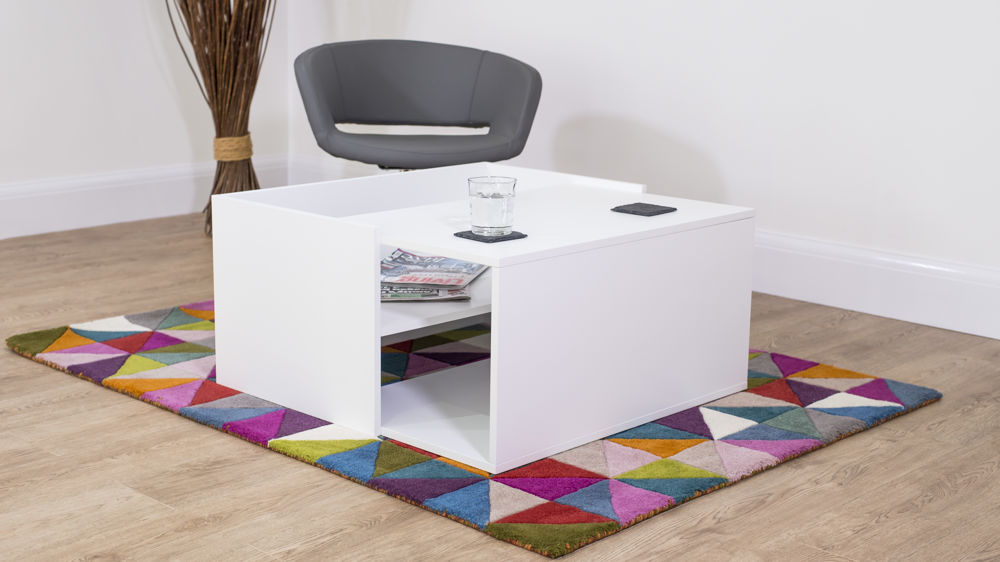 Contemporary White Lamp Table