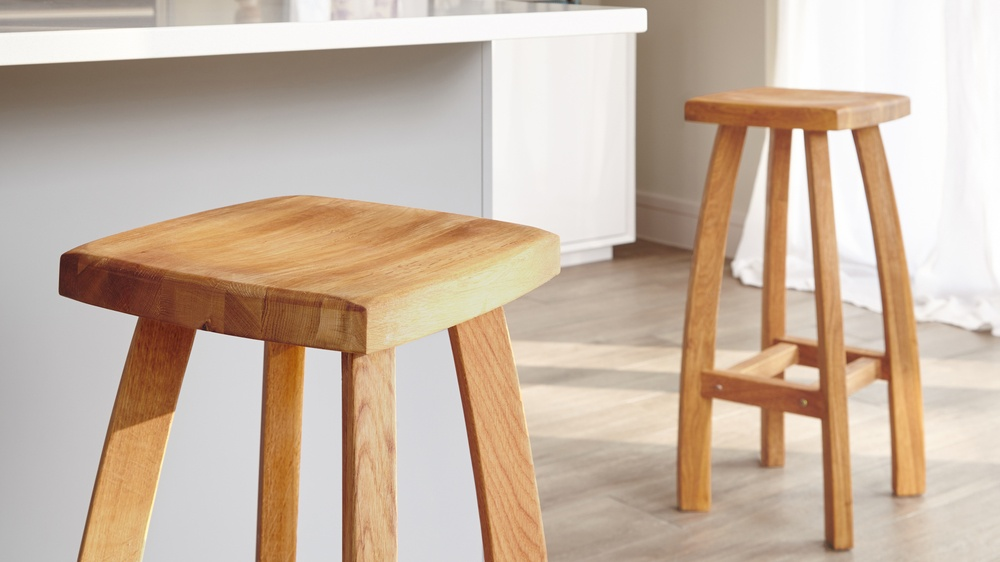 Modern Oak Height Bar Stool