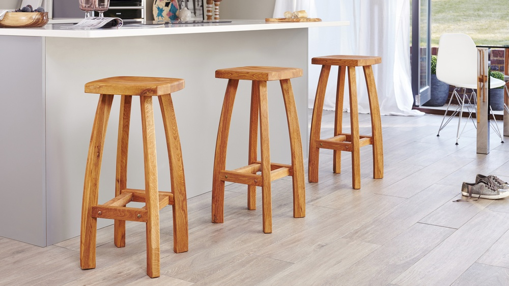 Solid Fixed Height Bar Stool
