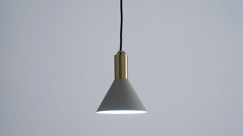 Light grey small pendant light
