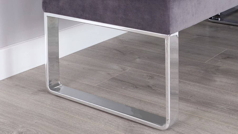 chrome legged dining benches