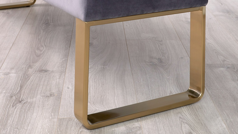 benches with brass legs
