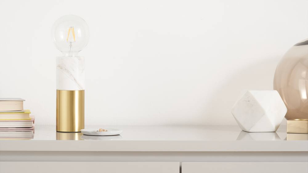 Marble and Brass modern table lamp
