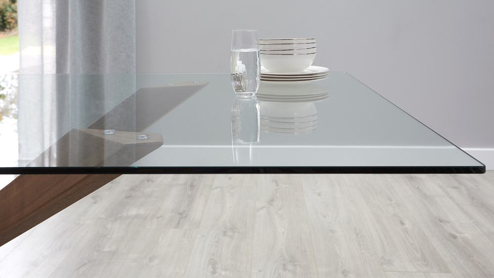 Tempered glass dining table sets