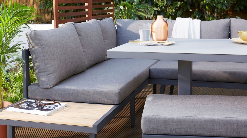 Palermo Grey 2 Seater Garden Bench Danetti Uk