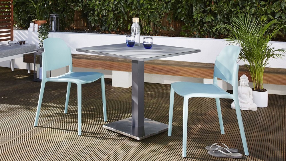 2-4 seater frosted glass garden table