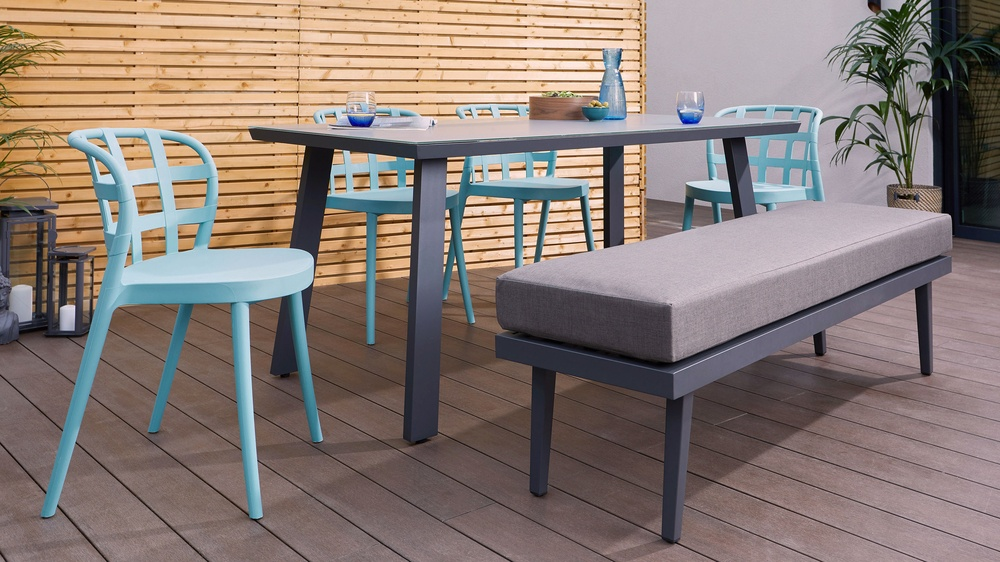 Comfortable modern outdoor seating
