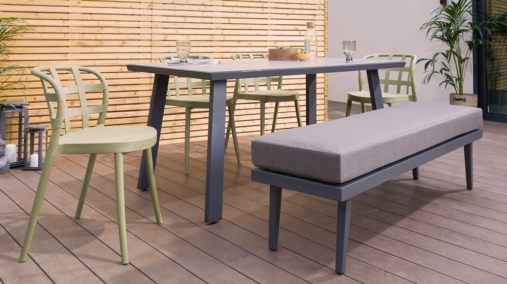 Palermo 3 seater outdoor bench