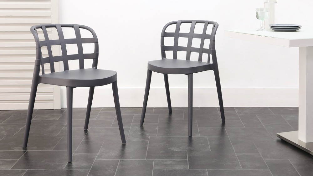 Dark grey garden chairs