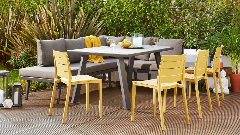 Colourful garden dining sets