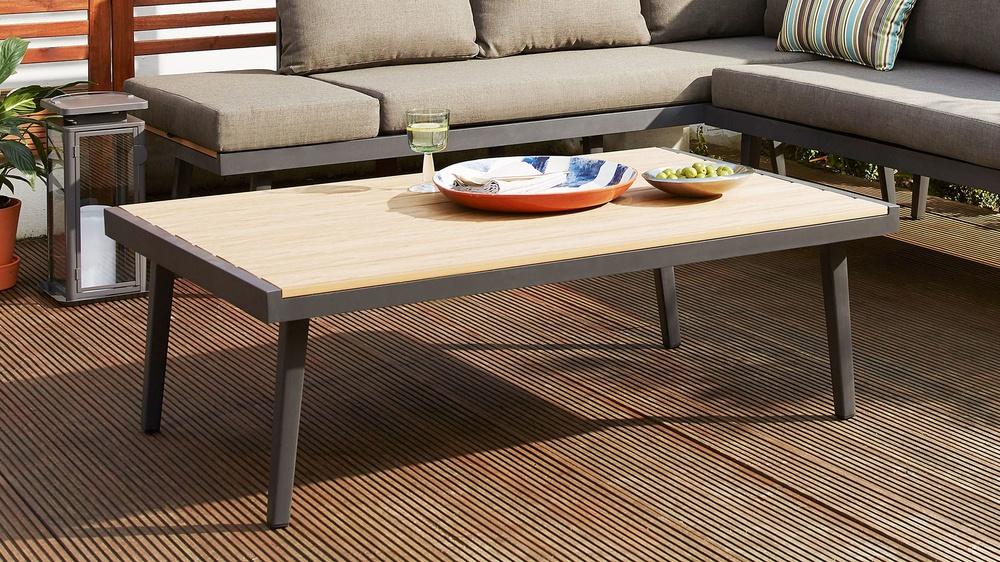 Modern outdoor garden coffee table