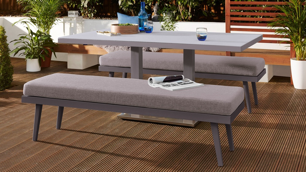 Grey 6 seater garden table
