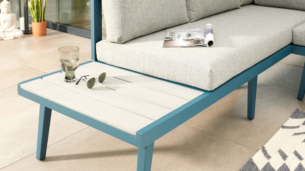 Removable cushion bench sets
