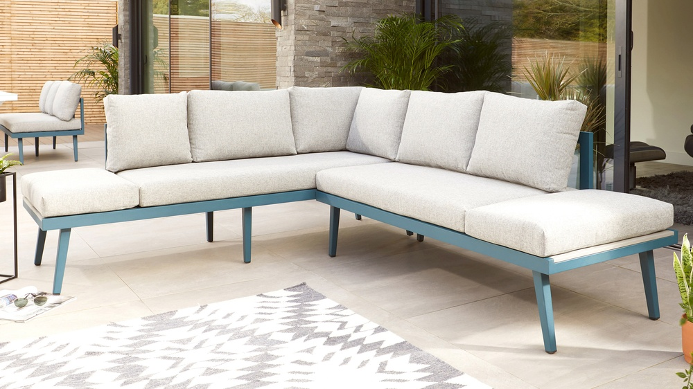 Corner sofa for the garden