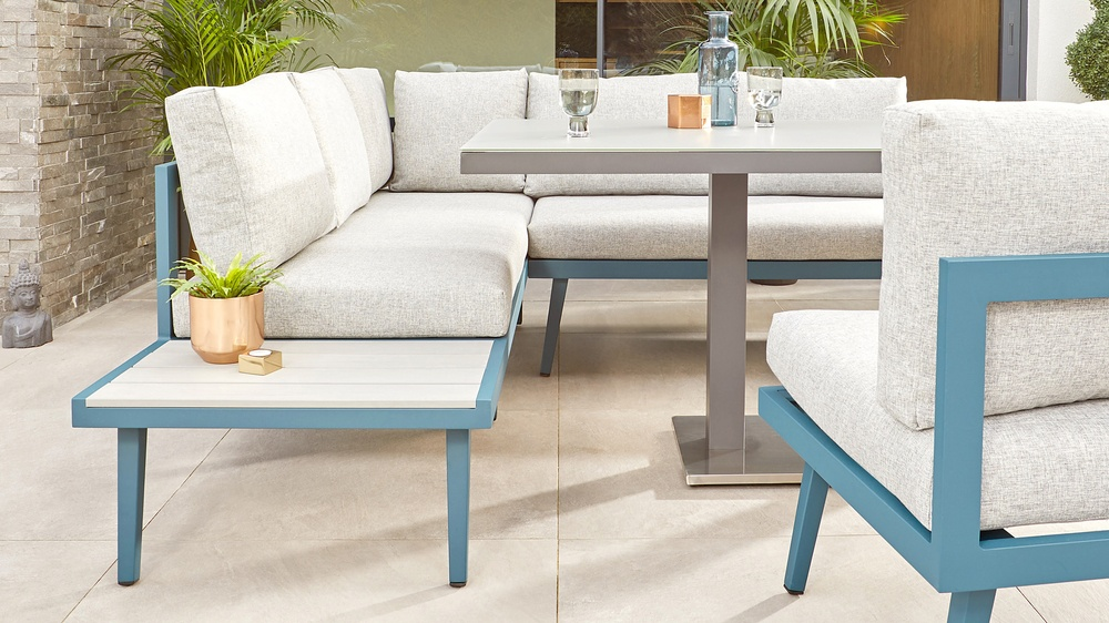 Teal garden furniture