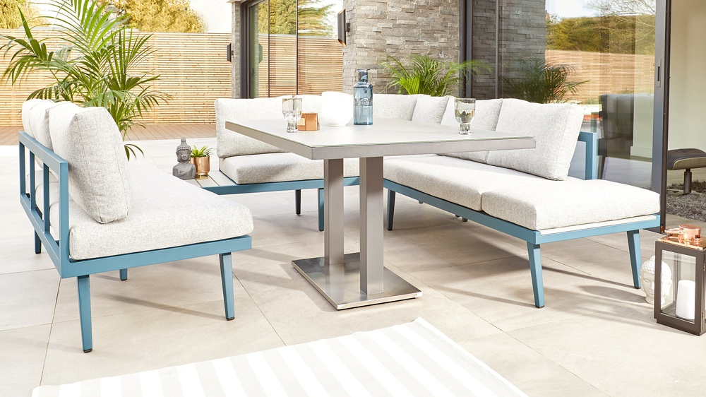 Blue garden furniture