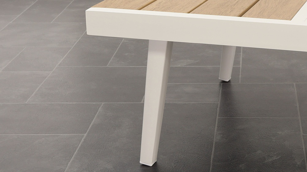 White Pedestal Table Backless And Right Corner Bench Set Uk