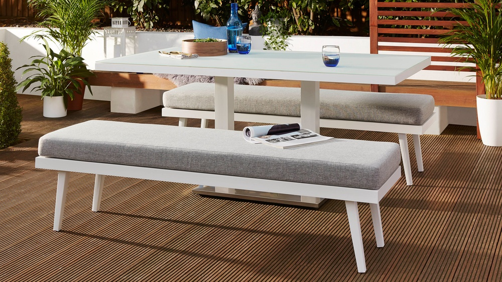 Danetti garden dining bench set