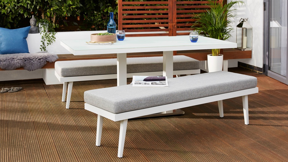 Buy modern garden bench set