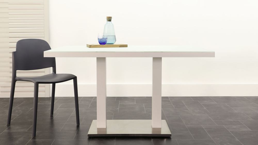 Frosted glass light weight garden table