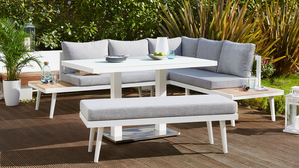 white garden furniture. Modern White Garden Table Set Furniture D