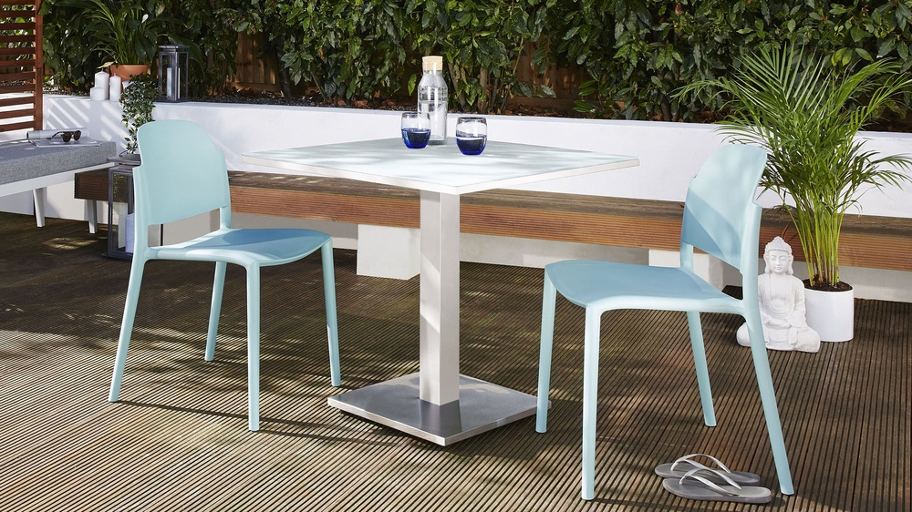 Palermo 2-4 seater white garden table