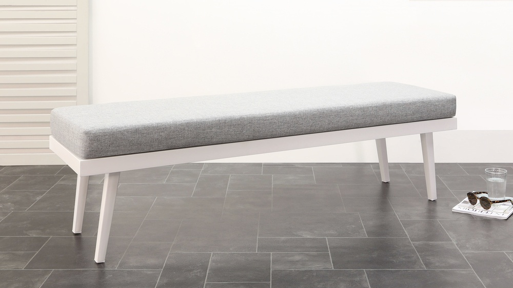 Modern 3 seater dining garden bench