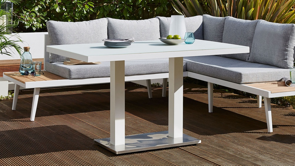 Buy white modern outdoor table