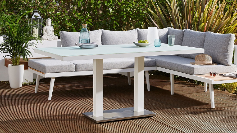 Buy modern white outdoor dining tables