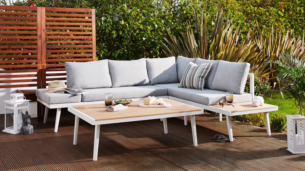 Wooden modern garden coffee table