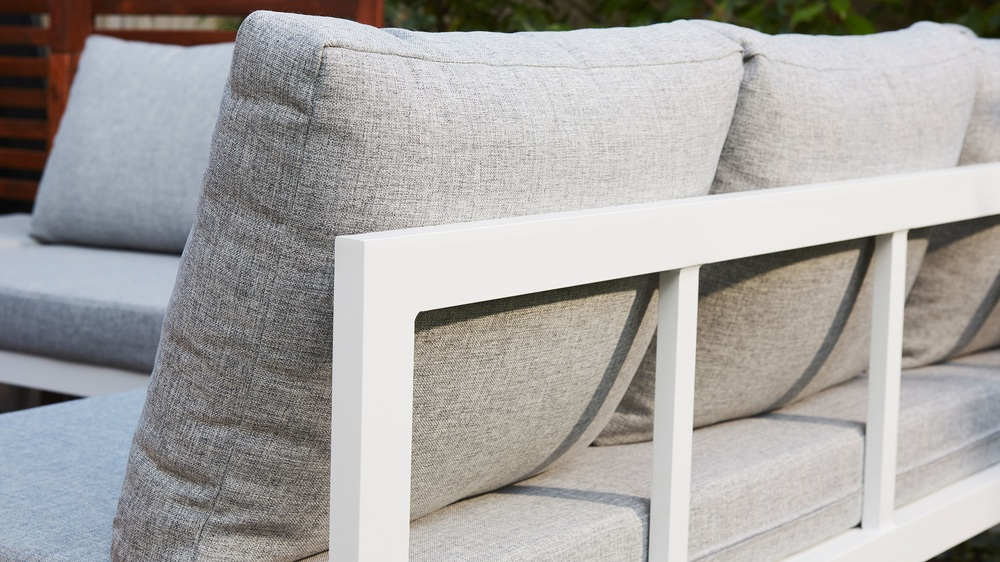 Modern unique white corner bench