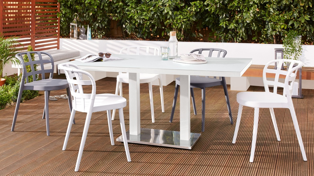 6 seater garden table set
