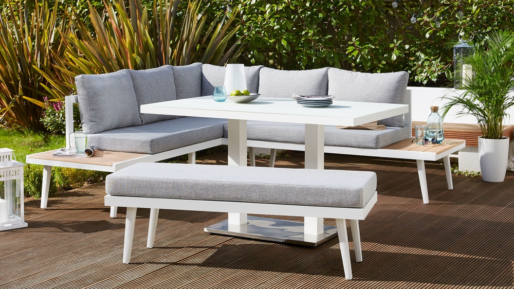 Palermo 4 seater corner bench set