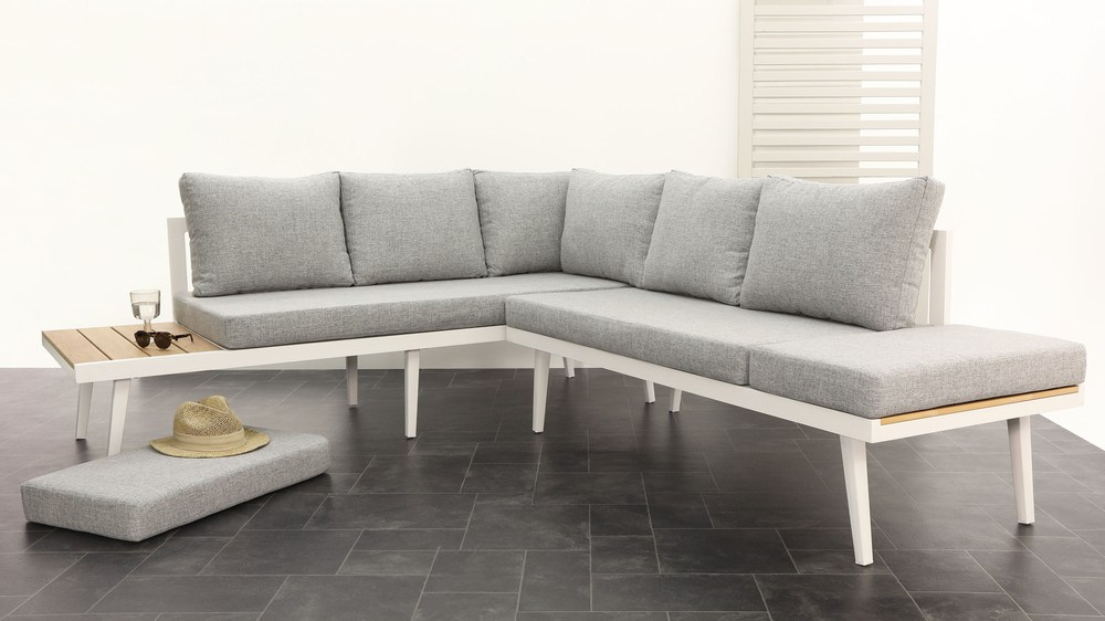Large modern 8 seater garden bench