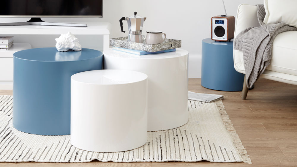 soft blue side tables