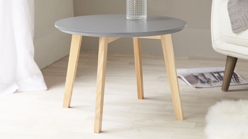 Penny Grey And Oak Side Table