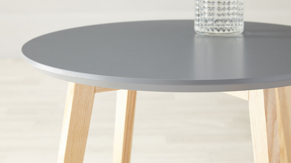Grey And Oak Side Table Round Side Table Uk Delivery