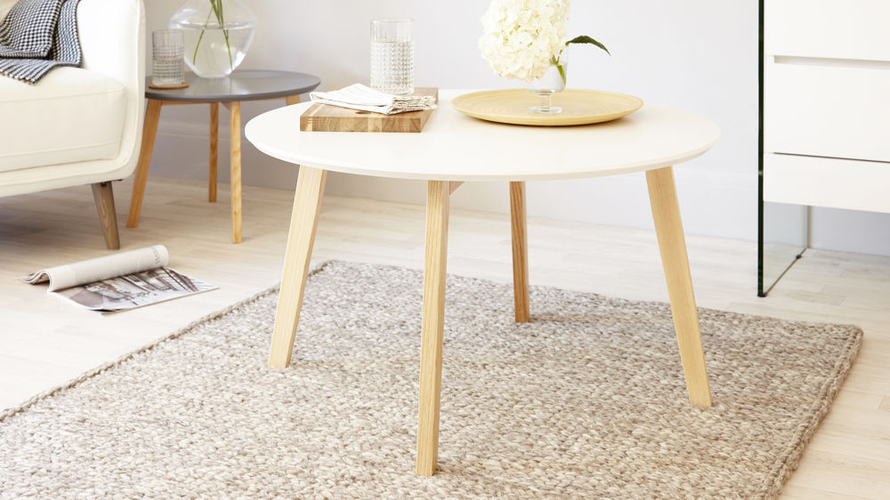 Penny White And Oak Coffee Table